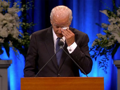 Joe Biden Gets Choked Up Remembering John McCain at Memorial Service