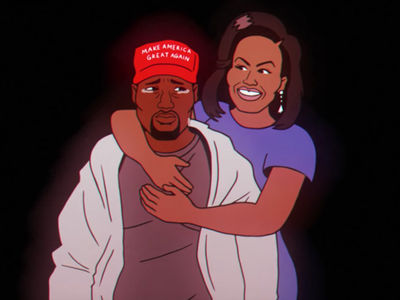 Kanye West Cries as Michelle Obama Hugs Him in Childish Gambino Music Video