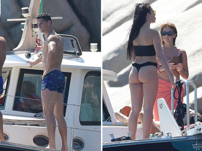 Cristiano Ronaldo and Georgina Rodriguez Show Lots of PDA on Yacht