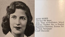 Ruth Bader Ginsburg Was a High School 'Twirler'