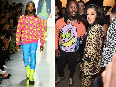 Offset Walks Runway During New York Fashion Week