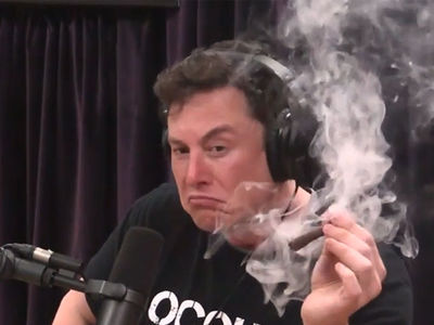 Tesla Stock Plummets After Elon Musk Smokes Weed With Joe Rogan