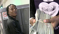 Rich The Kid Flaunts $100k in Cash at LAX