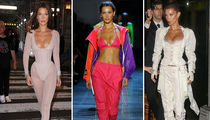 Bella Hadid Absolutely Slayed with Busty Outfits at NYFW