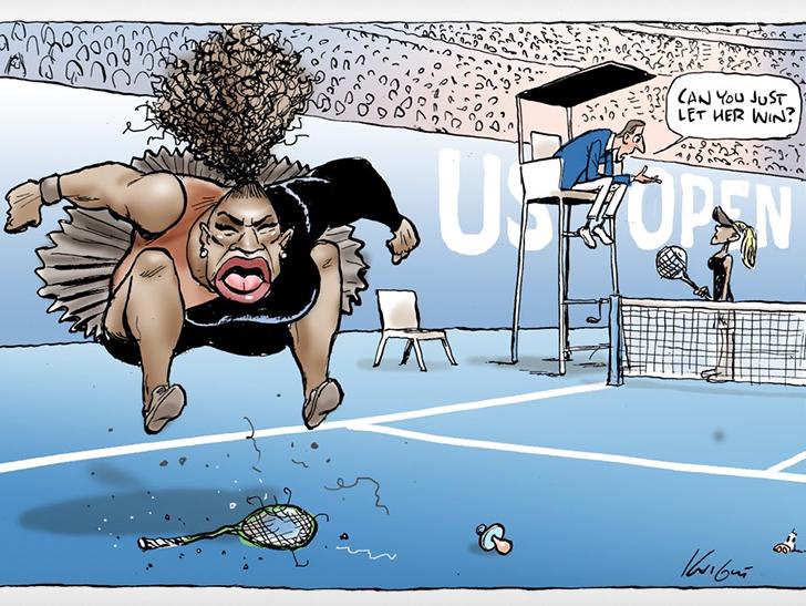 Image result for Serena cartoon