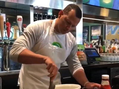 A-Rod Mops Up Wahlburgers After Losing Yankees vs. Red Sox Bet