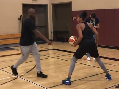 Kobe Bryant Trains Candace Parker in Hoops Workout