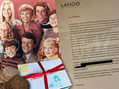 HGTV Appeases 'Brady Bunch' House Neighbors With Cookies & a Mouthpiece