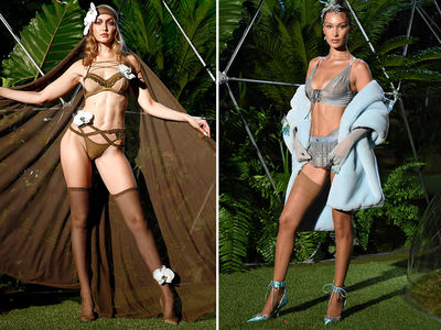 Gigi & Bella Hadid Model Rihanna's Savage X Fenty Lingerie at NYFW
