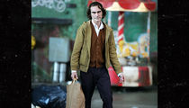 Joaquin Phoenix Seen in Character as The Joker for First Time