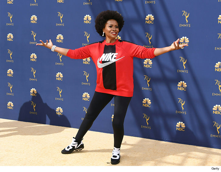 'Black-ish' actress Jenifer Lewis wears Nike to the Emmys