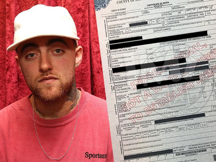 Mac Miller Death Certificate Cause Of Death Still An Official