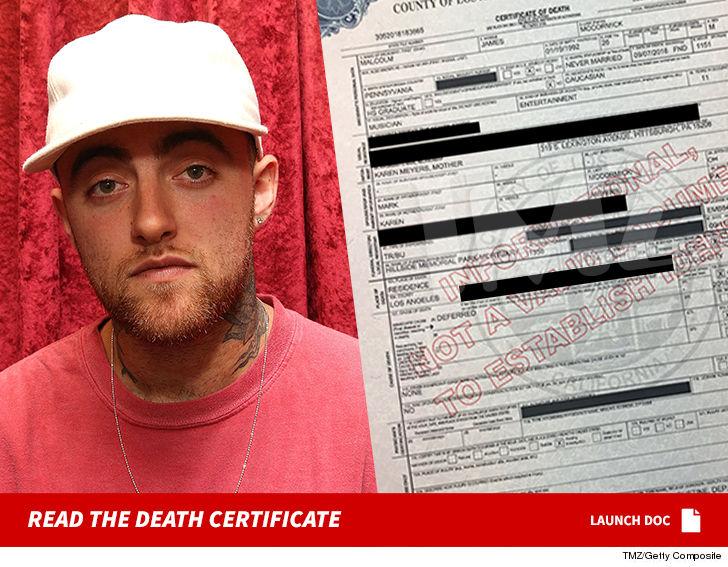 Mac Miller Death Certificate: Cause of Death Still an Official ...