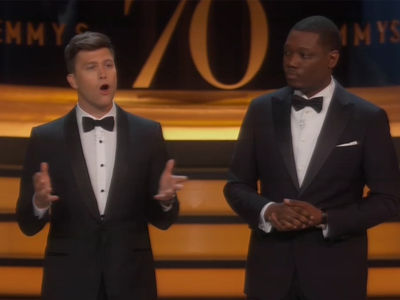 Colin Jost & Michael Che's Emmys Monologue Was Long, Topical, Awkward