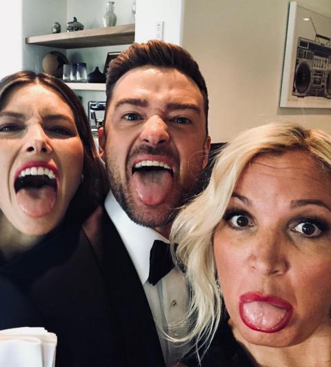 Jessica Biel, Justin Timberlake and Michelle Purple