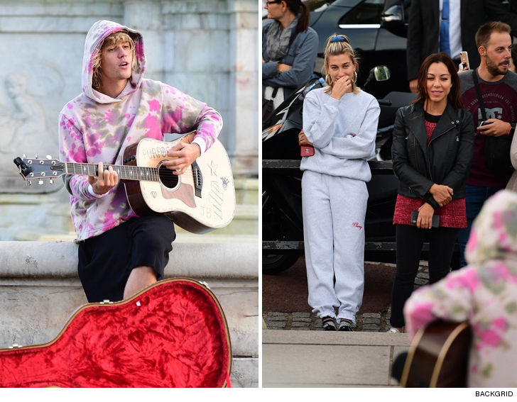 Busking Bieber Belts Out Ballad For New Bride Baldwin At Buckingham