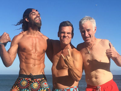 Joakim Noah Shows Off Shredded Beach Bod With Josh Brolin and John McEnroe