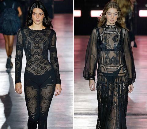 Kendall Jenner (22) vs. Gigi Hadid (23) -- Milan Fashion Week Edition