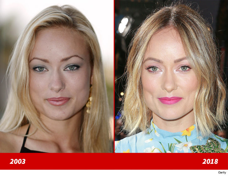 """Olivia Wilde's good looks are getting better in time! Here's a 19-year-old version of the """"House"""" actress exuding youth back in 2003 (left) and 15…"""