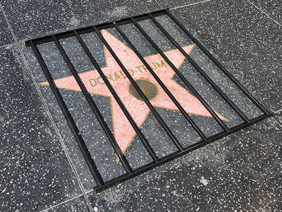 Donald Trump Gets Prison Bars Treatment on Hollywood Walk of Fame