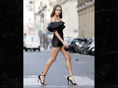 Olivia Culpo Wears Stunning Little Black Dress at Paris Fashion Week