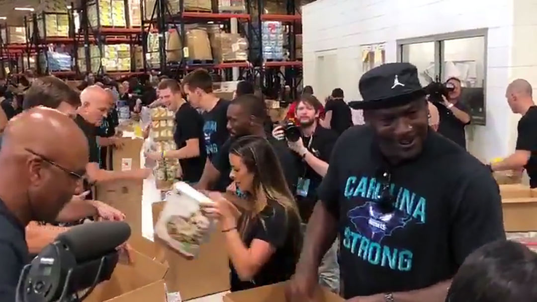 203df27b662d Michael Jordan Boxes Food For Hurricane Florence Victims