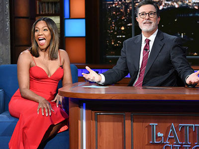 Tiffany Haddish Tells Colbert Why She Doesn't Need a Man Right Now: 'Batteries Are a Girl's Best…