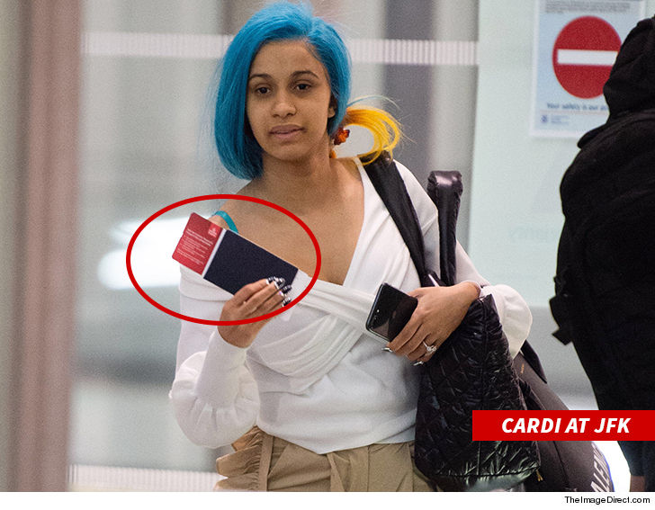 Cardi B shows up in Milan where Nicki Minaj is also visiting for Milan Fashion Week.
