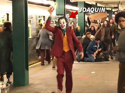 Joaquin Phoenix All Smiles as The Joker in Action