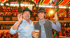 Arnold Schwarzenegger Celebrates Patrick's 25th Birthday at Oktoberfest