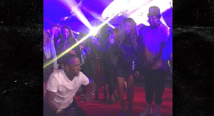 Jay-Z & Beyonce Watch Break Dancers at OTR II Rose Bowl After Party