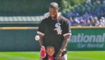 Kanye & Saint Throw Out First Pitch at Cubs-White Sox Game