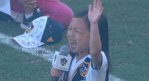 7-Year-Old Slays The Hell Outta National Anthem at MLS Game, MUST WATCH!