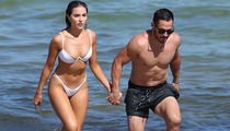 Danny Amendola's Beach Football Workout with Olivia Culpo Before Pats Game