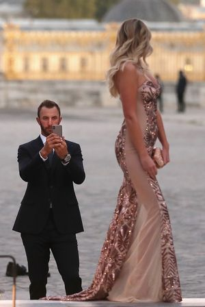 Paulina Gretzky Puts Dustin Johnson To Work in France