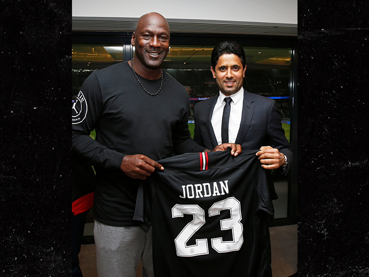 0927 michael jordan twitter 2 - Michael Jordan Crushin' Fancy Wine at PSG Soccer Game