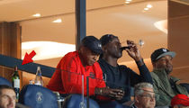 Michael Jordan Crushin' Fancy Wine at PSG Soccer Game
