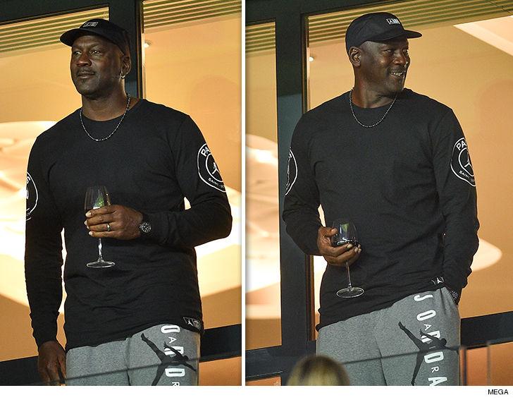 0927 michael jordan wine mega 7 - Michael Jordan Crushin' Fancy Wine at PSG Soccer Game