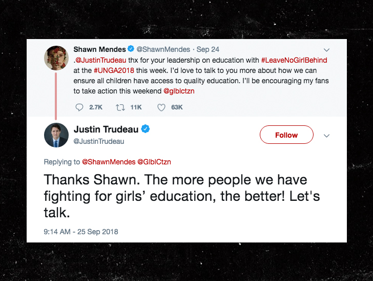 0927 shawn mendes trudeau twitter 2 - Shawn Mendes Figured Out The Quickest Way to Meet His Selfie Obligations
