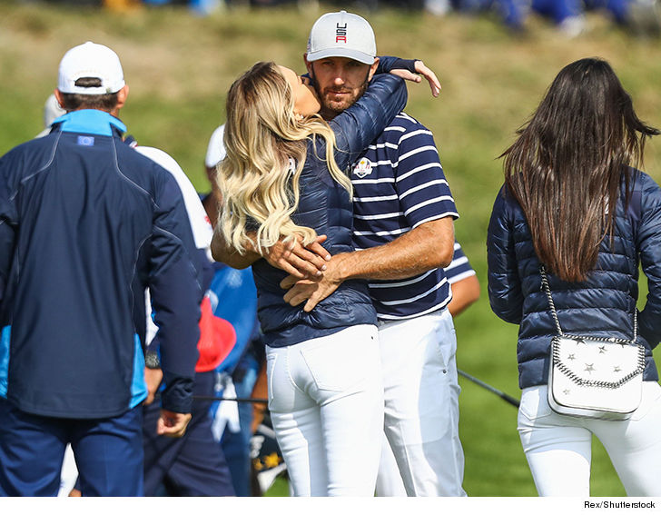 0928 paulina gretzky and dustin johnson pda rex shutterstock 7 - Paulina Gretzky French Kissin' Dustin Johnson, We're Back On!