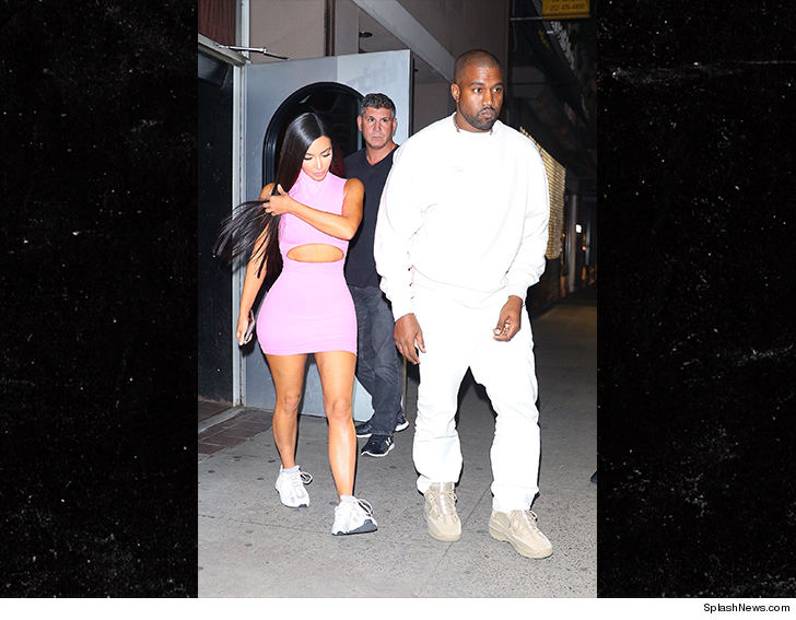 6d16a00a80 Kim Kardashian   Kanye West hit the town in NYC on the eve of Kanye s  SNL   performance.