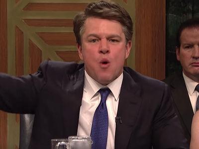 Matt Damon Killed as  Brett Kavanaugh On 'SNL'