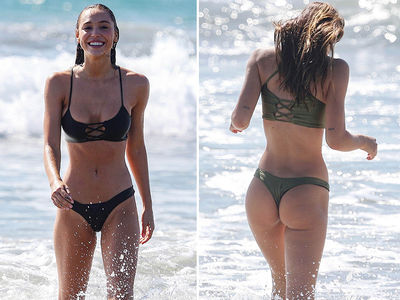 Alexis Ren Tangos with a Thong In Sexy Beach Bikini Sesh