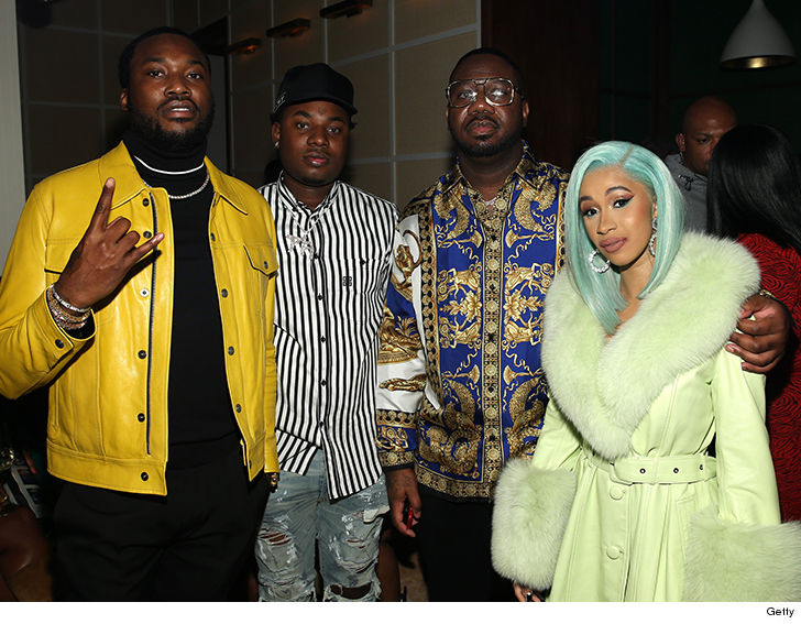 Cardi B and Meek Mill Hit the Studio