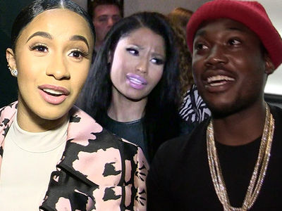 Cardi B Recorded New Music with Nicki Minaj's Ex, Meek Mill