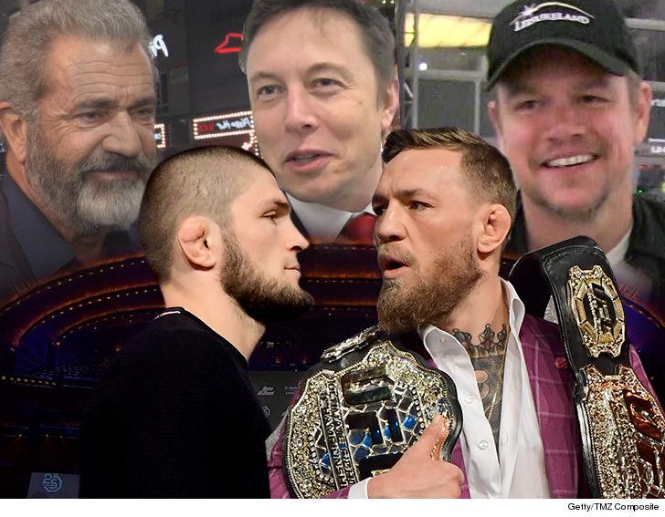 Conor vs. Khabib Huge Stars on VIP List ... Elon Musk, Mel Gibson, Matt Damon