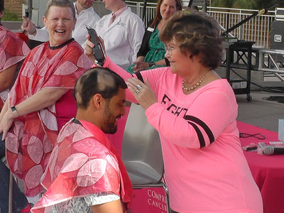 NHL Star Pierre-Edouard Bellemare Gets Head Shaved By Women Fighting Cancer