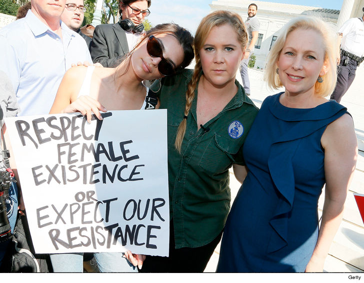 Amy Schumer, Emily Ratajkowski among more than 300 arrested at Kavanaugh protest