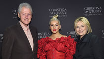 Bill and Hillary Clinton Meet Christina Aguilera Backstage at Her Concert