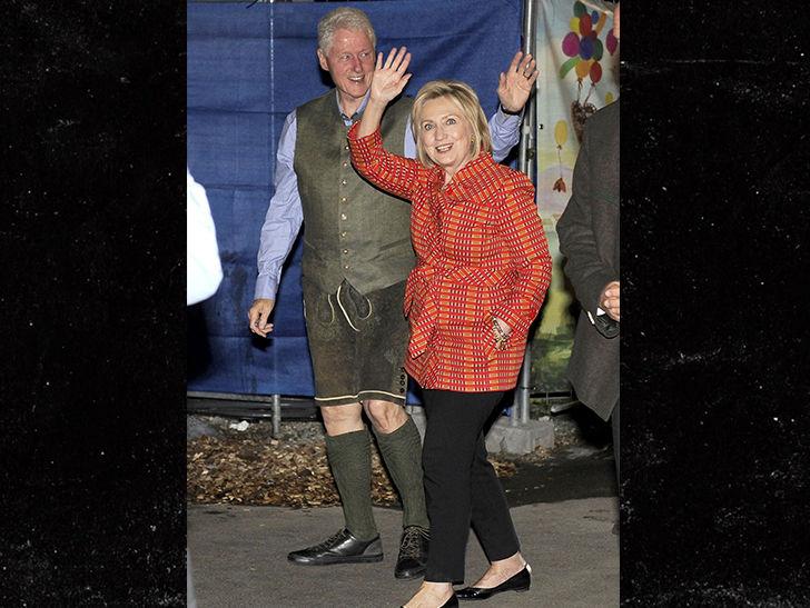 Bill and Hillary Clinton Do Oktoberfest